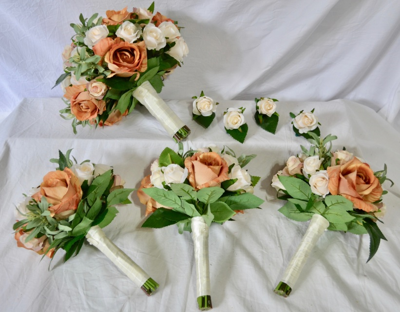 Silk flower wedding bouquets australia flowers healthy pre made latte ivory rose posies free delivery artificial hydrangea flowers australia mightylinksfo