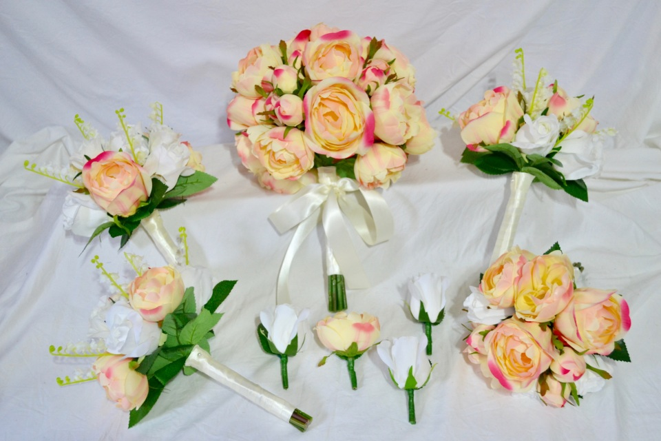 Pre made cheap and discounted silk wedding flower packages online mightylinksfo