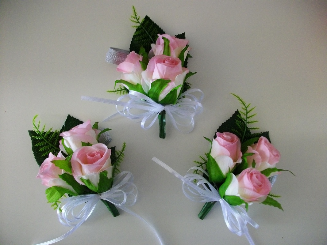 Silk Buttonholes And Corsages Plus Flower Girls Just Fake It Bouquets