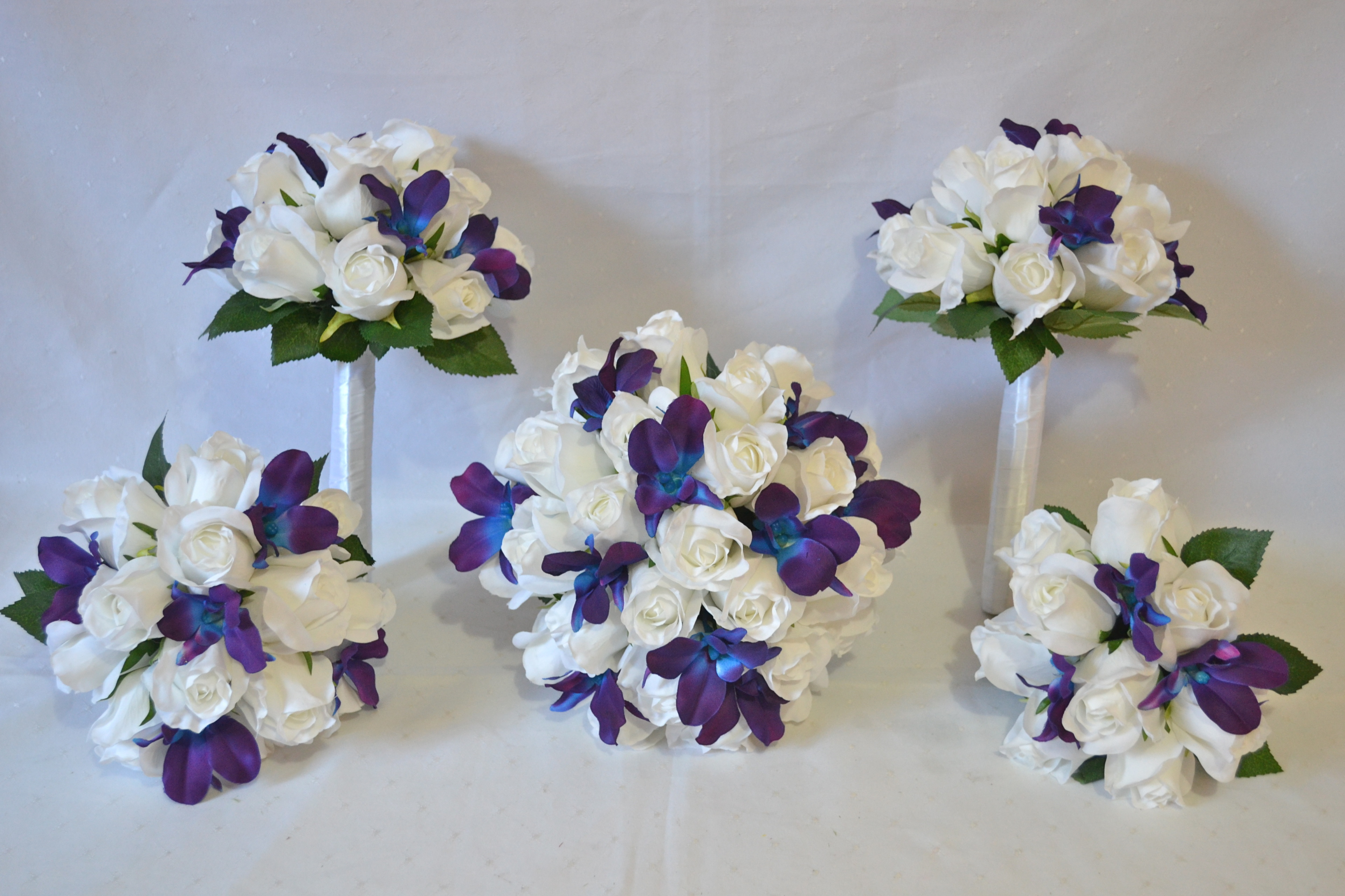 White Rose Blue Galaxy Orchids Free Delivery