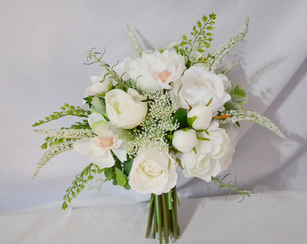 Round Bouquets Silk And Real Touch Wedding Flowers Just Fake It